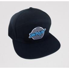 """Lines"" Patch Snapback Hat (BLACK)"