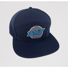 """Lines"" Patch Snapback Hat (NAVY)"