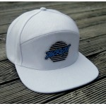 """""""Lines"""" Patch Snapback Hat (WHITE)"""