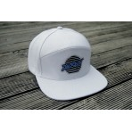 """Lines"" Patch Snapback Hat (WHITE)"